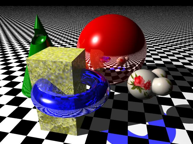 ray tracing and animations of the linux cluster